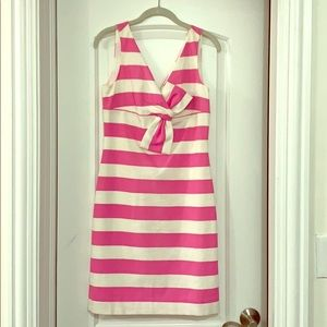 Kate Spade pink and white striped dress